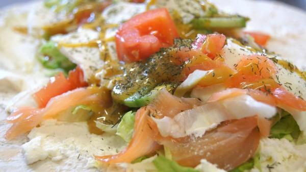 Frischkäse Lachs Wrap